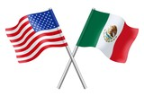 Flags : USA and Mexico - 65130041