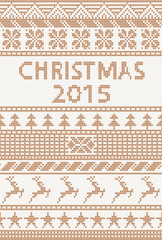 knitted pattern: christmas 2015
