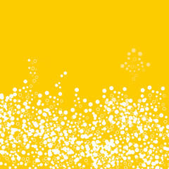 Yellow background with bubbles, vector illustration