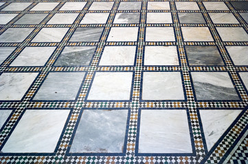 Traditional Arabic tiled floor