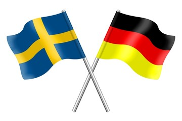 Flags : Sweden and Germany
