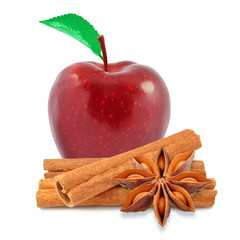 apple and cinnamon with anise