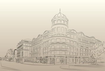 Donetsk Donbass Palace hotel drawing