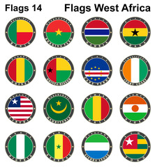 World flags. Western Africa