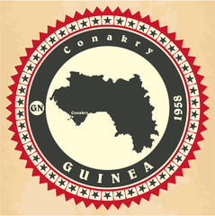 Vintage label-sticker cards of Guinea.
