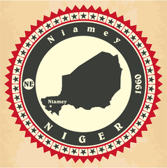 Vintage label-sticker cards of Niger.