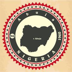 Vintage label-sticker cards of Nigeria.