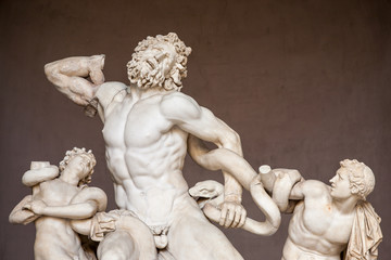 Roman statue of Laocoon and his sons in Vatican.