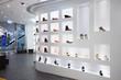 Leinwandbild Motiv Fashion shoe store shelf