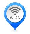 Schild blau WLAN