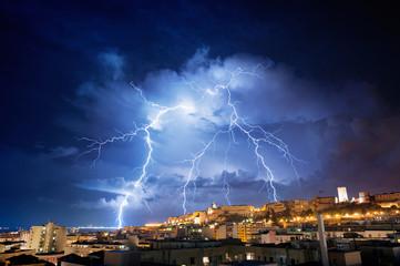Very big lightning on the city
