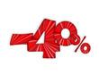 """""""-40%"""" (soldes shopping offre spéciale publicité marketing)"""