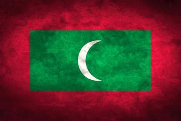 Maldives grunge flag