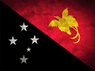 Papua New Guinea grunge flag