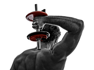 man weights body builders training  exercises