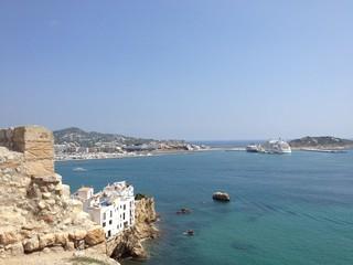 Vistas des del castillo de Ibiza