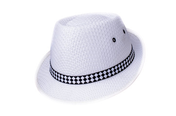 Black and White Hat isolated