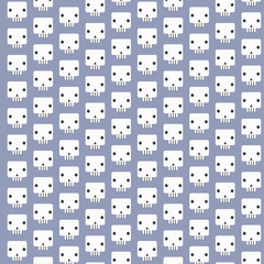 White skull patterns background