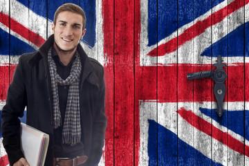 Student vor Grossbritannientüre