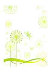 Abstract spring card