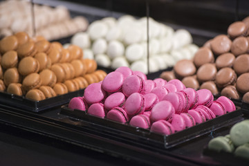 macaroons on display stand
