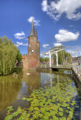 Oostpoort in Delft, Holland