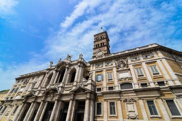 The Front of Santa Maria Maggiore. Rome