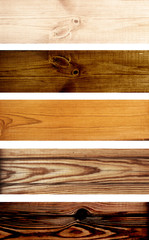 Wooden banners