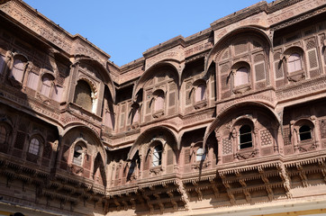 Traditional medieval house (haveli) in Jodhpur,India,unesco