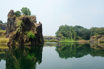 Beautiful lake near Kochi,Malabar coast,Southern India,Asia