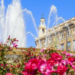 fountain in catalonia square