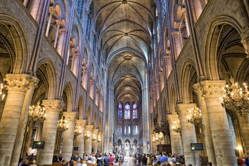 notre dame paris internal view