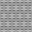 Design seamless monochrome metallic flower pattern