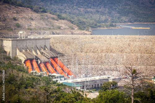 Plexiglas Dam Akosombo Hydroelectric Power Station on the Volta River in Ghana