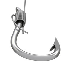 Metal fishing hook and line