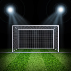 Soccer gate in the middle of field