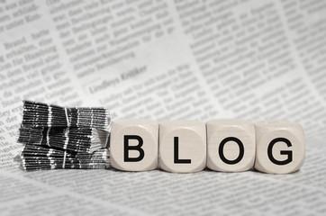 Blog auf Zeitung