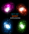Explosion with sparkles vector design collection