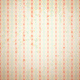 Retro vector pattern (tiling). Fond red, beige and blue colors.