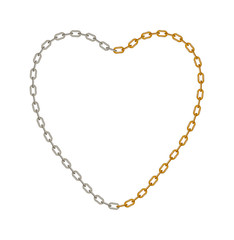 Chain in shape of heart
