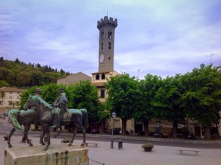 the square in Fiesole