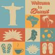 Brazil icons.