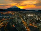 Retouch photo of Yokohama city and Mt. Fuji poster