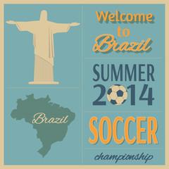 Brazilian soccer poster.