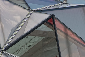 Prismatic glass window building detail