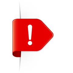 Exclamation sign - Roter Sticker Pfeil mit Schatten