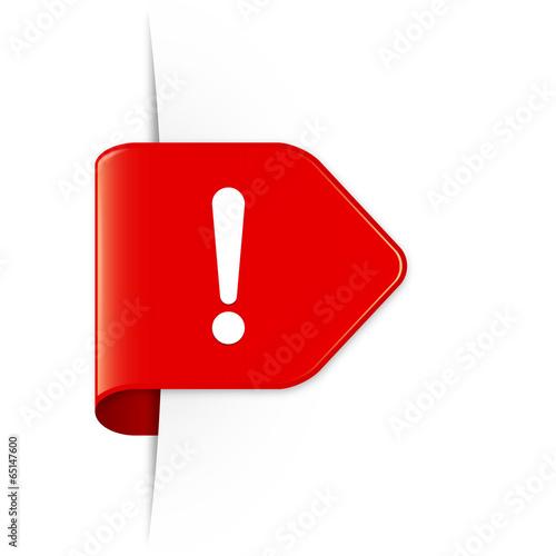 Exclamation sign - Roter Sticker Pfeil mit Schatten - 65147600