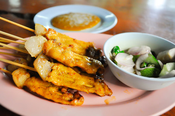 satay barbequed