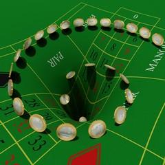 Euros verschwinden beim Glücksspiel