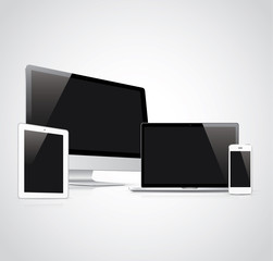 Electronic devices vector illustration